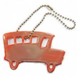 Glimmis reflexní přívěsek autobus červený