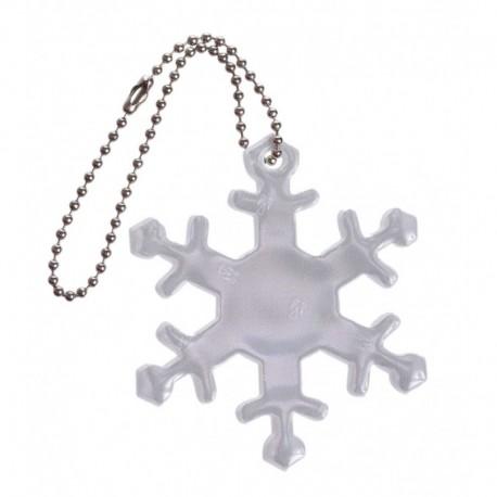 Glimmis reflexní přívěsek sněhová vločka bílá