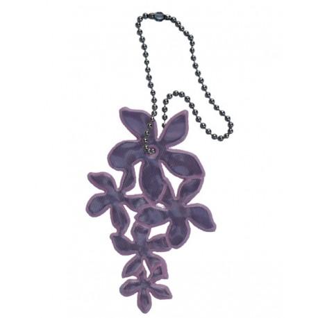 Reflexní přívěsek lilie světle fialová