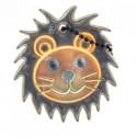 Glimmis reflexní přívěsek lvíček hnědý