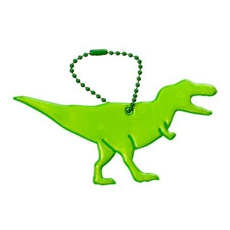 Glimmis reflexní přívěsek Dinosaurus Tyranosaurus, zelený