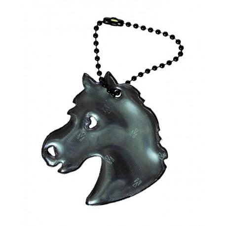 Glimmis reflexní přívěsek kůň černý
