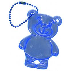 Glimmis reflexní přívěsek méďa modrý