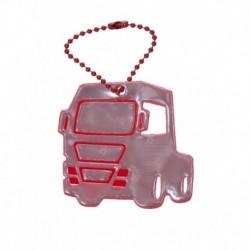 Reflexní přívěsek nákladní auto červené