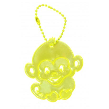 Glimmis reflexní přívěsek opička limetková