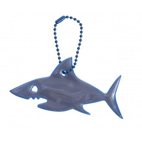 Glimmis reflexní přívěsek žralok modrý