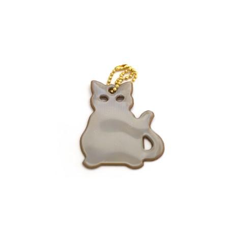 Glimmis reflexní přívěsek kočka zlatá