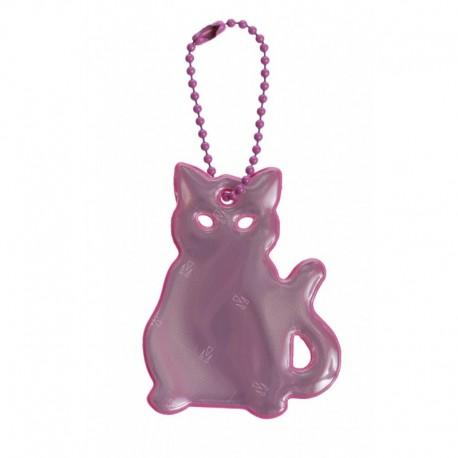 Glimmis reflexní přívěsek kočka růžová