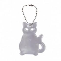 Glimmis reflexní přívěsek kočka bílá