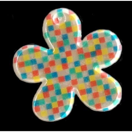 SeeME reflexní přívěsek retro pixel květina