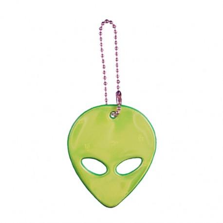 Reflexní přívěsek mimozemšťan zelený