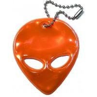 Reflexní přívěsek mimozemšťan oranžový